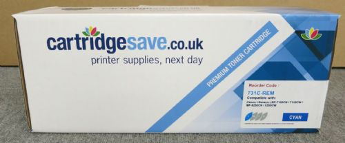 Cartridgesave for Canon 731C-REM New Boxed Cyan Toner Cartridge - 6271B002